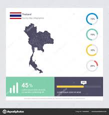 Thailand Stock Chart Thailand Map Flag Infographics Design Vector Template