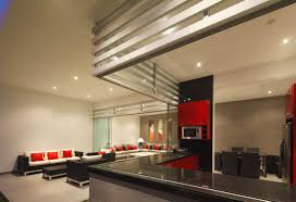beautiful red black dining room