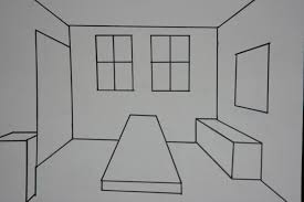 One Point Perspective Of My Bedroom