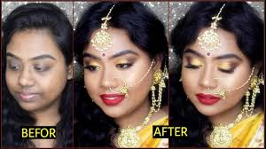 wedding guest makeup south indian style for dark skin india