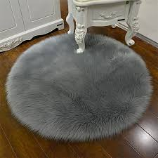 kuhong 1pc home practical high quality imitation wool simple round shape carpet