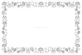 母の日のフレーム 白黒 イラスト素材 5440573 フォトライブラリー