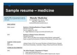 Resume Example Monash Monash University