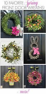 Image Pinterest Gorgeous Spring Wreath Ideas For Your Front Door My Favorite Is Number 10 Driven By Decor Best Simple Spring Decorating Ideas Driven By Decor