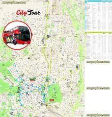 madrid map  hopon hopoff bus map of madrid city sightseeing