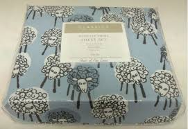 sheep sheets charter club classics novelty sheep blue twin microfiber sheet set