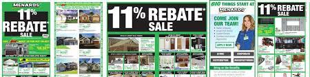 Menards 11% Rebate Sale Jan 07 to Jan 13