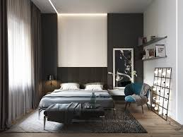 Chiffon Curtaining Modern Black And White Bedrooms