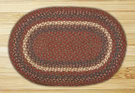 earth rugs c 40 burdy gray oval braided rug 4 feet x 6 feet