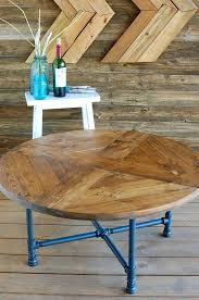 pipe leg coffee table round pattern industrial coffee table reclaimed wood furniture industrial pipe legs rustic pipe leg coffee table