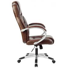 government brown leather office chairs