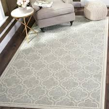 9 square rug indoor outdoor light grey ivory 9x9 area