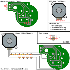 gamecube analog stick wiring help needed the official and are these the correct pins to wire up via ss s gc c stick to 3ds analog diagram for wiring an c stick to an analog position