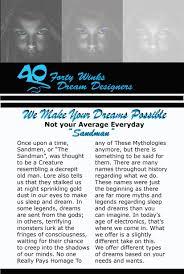 Dream Designers 40 Winks Dream Designers On Behance