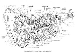 ford ranger automatic transmission identification exploded view of c 4