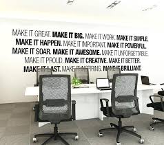 corporate office decorating ideas. Office Art Ideas Wall Corporate Supplies Decor Typography Decal Decorating I
