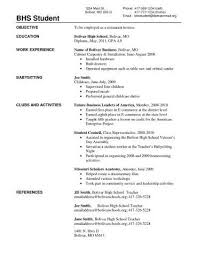 Resume Education Examples For Highschool Students | Resume Examples