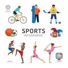 Sports Infographic Template 1 067 Infographic Template Wall Murals Canvas Prints Stickers