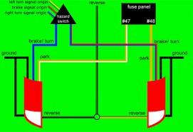 wiring diagram for tail light on a trailer the wiring diagram zx3 tail and brake light color codes schematic wiring to use a