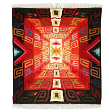 sun festival geometric wool area rug 4x6