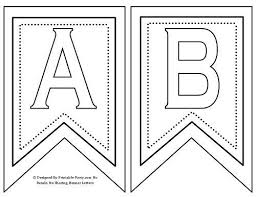 Letter For Banner Free Printable Letters For Banners Banner Letter Templates Word