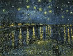 starry night over the rhone oil painting reion on canvas artist vincent van gogh