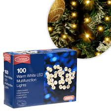 Indoor Christmas Lights White Wire Christow Warm White Led Multi Function Christmas Lights