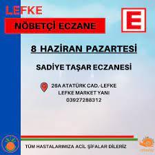 8 Haziran Pazartesi Nöbetçi Eczane... - Lefke Belediyesi