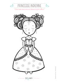 Coloriage Princesse Indienne Momes Net
