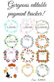 Monthly Payment Chart Editable Pdf