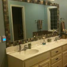 Tile Framed Mirrors Bathroom Awesome Yellow Tile Framed Mirrors