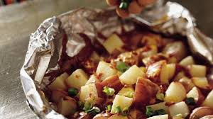 grilled smoky cheddar potatoes foil