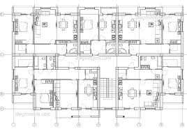 Apartment Building Plan Autocad Drawings Download Free Cad File