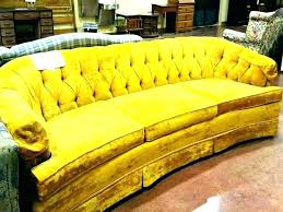 yellow leather sofa recliner