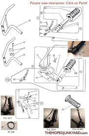 diagram reference p16 puch throttle brake parts