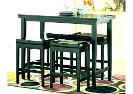 chrome black piece pub table set tall and chairs indoor indoor round bistro table full size