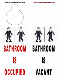 occupied bathroom sign. Occupied / Vacant Double Sided Bathroom Door Sign Toilet H