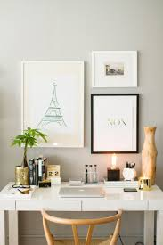 small home office desk. How To Style A West Elm Parsons Desk // White Lacquer Neutral /. Small Home Office