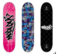 Skateboards Designs 30 Cool Vector Illustrated Skateboard Decks