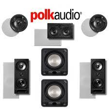 polk audio 265ls 5 2 ch vanishing series in wall in ceiling home