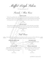restaurant menu maker free salon menu templates from imenupro
