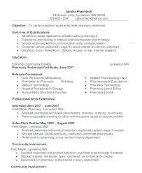 Pharmacist Assistant Resumes Example Pharmacist Resume Emelcotest Com