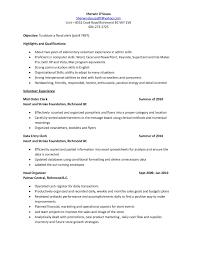 Floral Clerk Resume A Good Resume Example