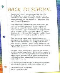 School Newsletters Template Digitalhustle Co
