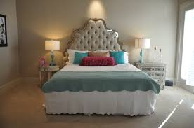 Mirrored Tufted Headboard Mirrored Headboard Design Ideas For Bed