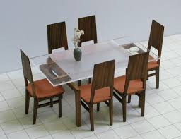 dollhouse modern furniture. dining table and 6 chairs set 112 scale dollhouse miniature modern furniture