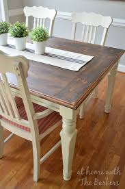 farmhouse table makeover at home with