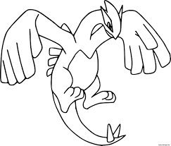 Coloriage Pokemon Legendaire Lugia Dessin