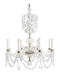 a george iii style cut glass eight light chandelier height 29 x diameter 24 inches by leslie hindman auctioneers bidsquare