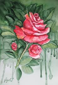 red roses wall decor paintings for